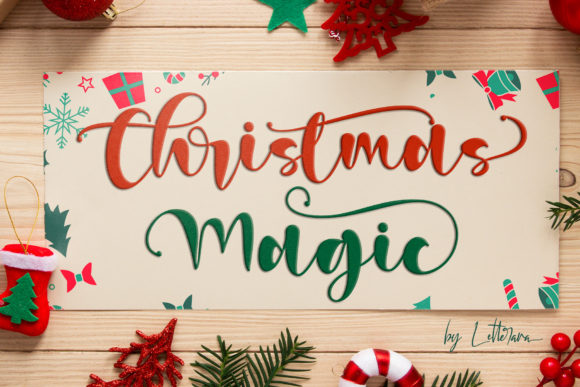 Print on Demand: Christmas Magic Script & Handwritten Font By thomasaradea
