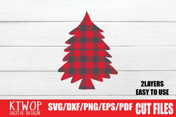 Print on Demand: Christmas Tree Buffalo Plaid Graphic Crafts By KtwoP