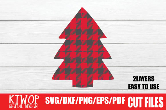 Print on Demand: Christmas Tree Buffalo Plaid SVG Graphic Crafts By KtwoP