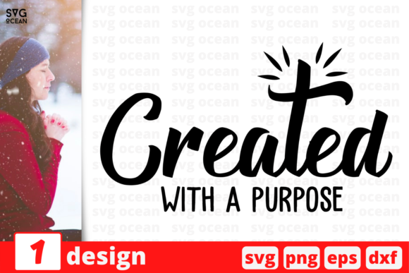 Download Created with a Purpose SVG Cut Files