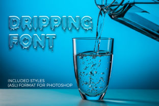 Print on Demand: Dripping Display Font By OWPictures