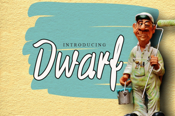 Print on Demand: Dwarf Script & Handwritten Font By gunawanletter