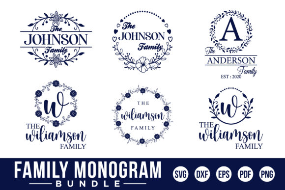 Family Monogram Bundle Graphic Crafts By CraftlabSVG