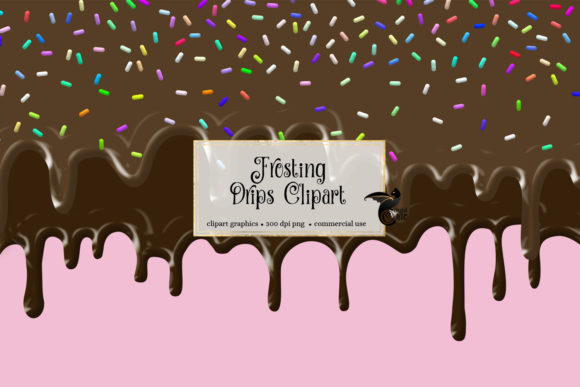 Print on Demand: Frosting Drips Clipart Graphic Illustrations By Digital Curio