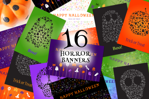 Print on Demand: Halloween Greetings Pack Graphic Illustrations By barsrsind