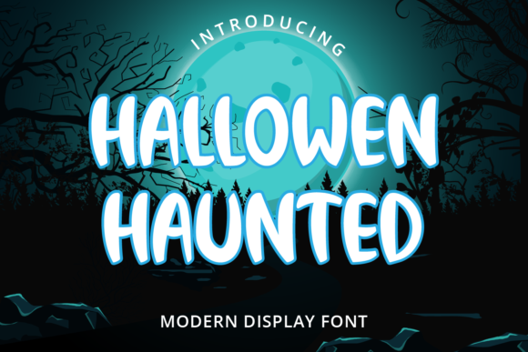 Print on Demand: Halloween Haunted Display Font By Planetz studio