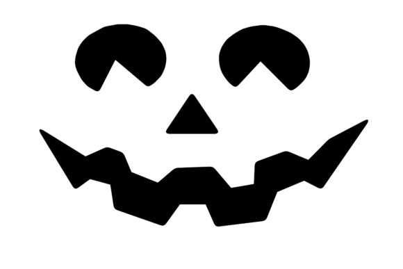 Print on Demand: Halloween Pumpkin Face Silhouette Graphic Illustrations By atlasart