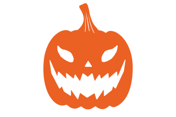 Print on Demand: Halloween Pumpkin Silhouette Graphic Illustrations By atlasart