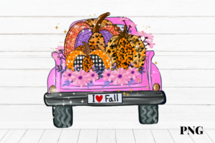 Print on Demand: Halloween Truck I Love Fall Graphic Illustrations By Suda Digital Art