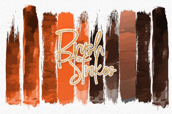 Print on Demand: Halloween Watercolor Brush Strokes 01 Graphic Illustrations By loyaarts
