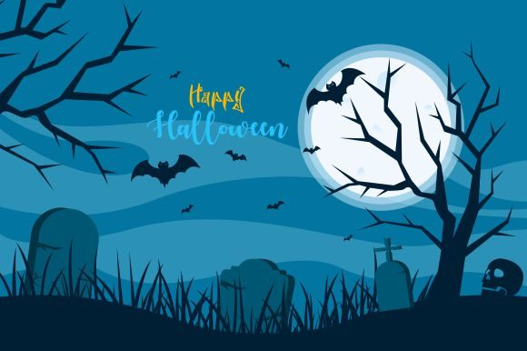 Halloween Background, Haunted House Graphic