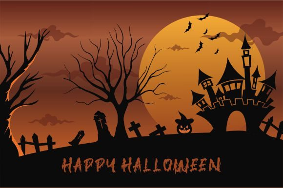 Halloween Background, Haunted House Graphic Logos By 2qnah - Image 1