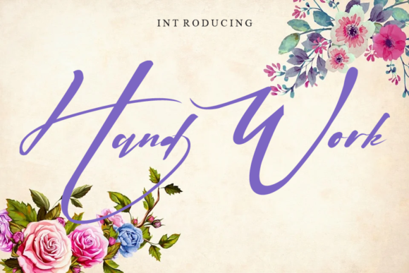 Print on Demand: Hand Work Script & Handwritten Font By gunawanletter