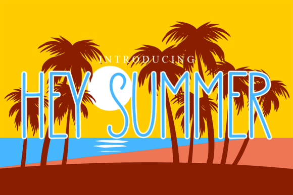 Print on Demand: Hey Summer Sans Serif Font By gunawanletter