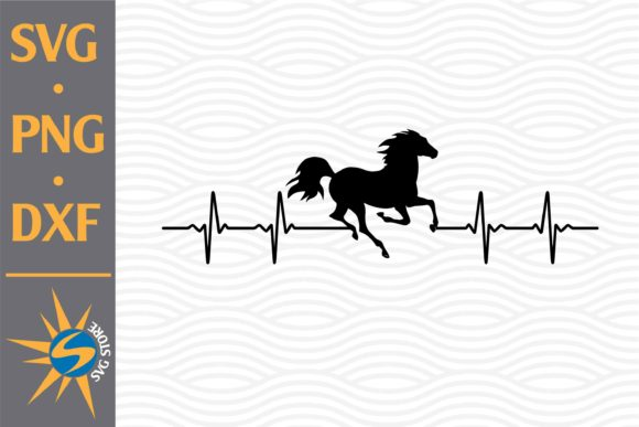 Print on Demand: Horse Heartbeat Graphic Crafts By SVGStoreShop
