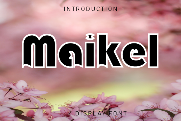 Print on Demand: Maikel Display Font By giatstudios