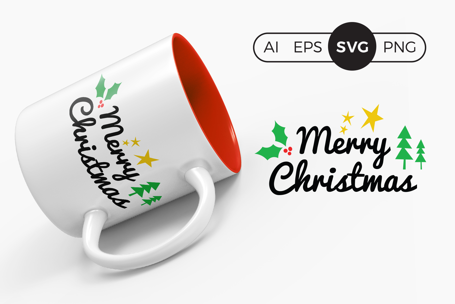 Merry Christmas Svg Clipart Graphic By Dtcreativelab Creative Fabrica
