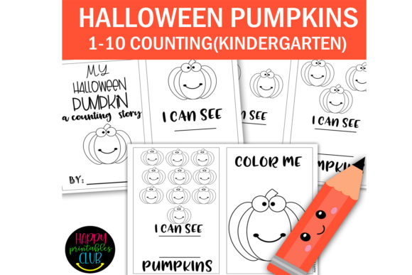 Print on Demand: My Halloween Count and Color Book 1-10 Graphic K By Happy Printables Club