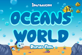 Print on Demand: Oceans World Display Font By boogaletter