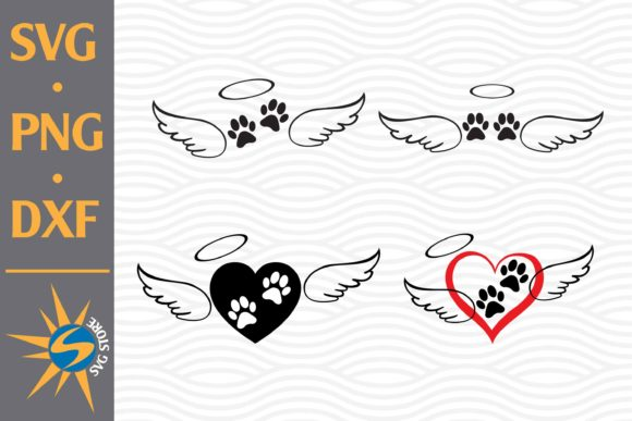 Print on Demand: Paw Angel Wing Graphic Crafts By SVGStoreShop