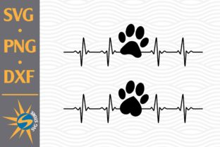 Print on Demand: Paw Heartbeat Graphic Crafts By SVGStoreShop