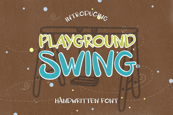 Print on Demand: Playground Swing Display Font By WADLEN