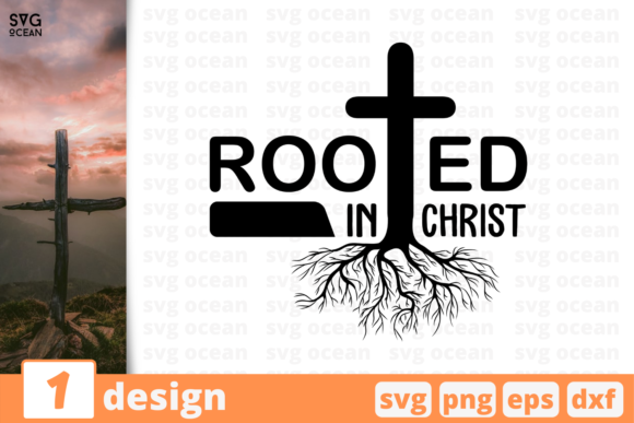 Print on Demand: Rooted in Christ Graphic Crafts By SvgOcean