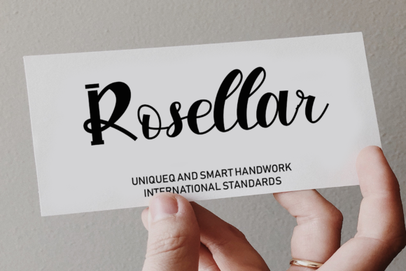 Print on Demand: Rosellar Script & Handwritten Font By giatstudios