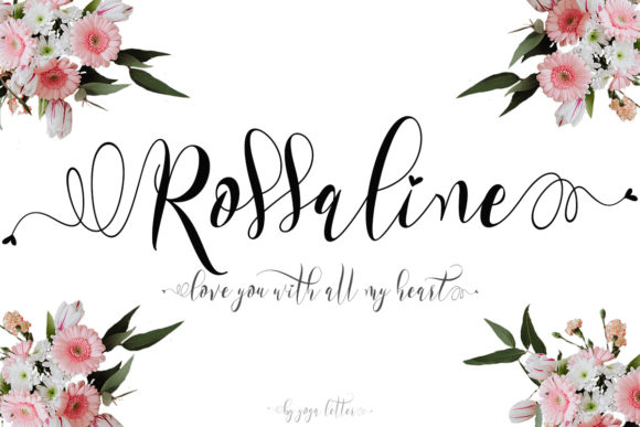 Print on Demand: Rossaline Script & Handwritten Font By yogaletter6