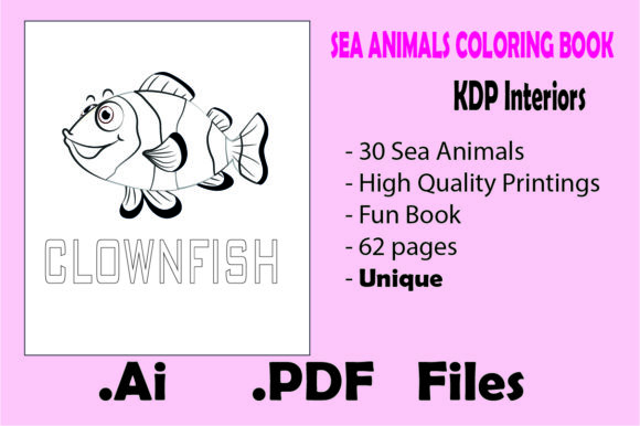 Sea Animals Coloring Book For Kids (Graphic) By KDP_Interior_101 · Creative  Fabrica