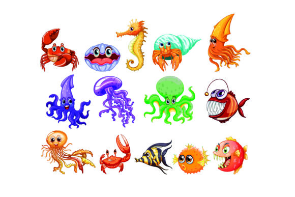 Set of See Animals Illustrations Graphic Illustrations By KDP_Interior_101