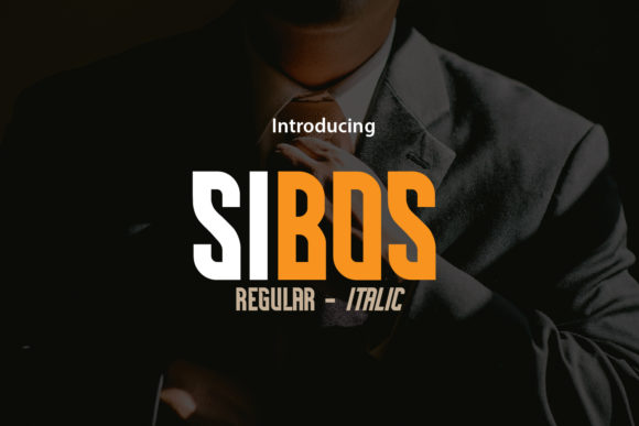 Print on Demand: Sibos Display Font By da_only_aan