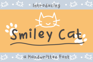 Print on Demand: Smiley Cat Script & Handwritten Font By nuraisyahamalia1729