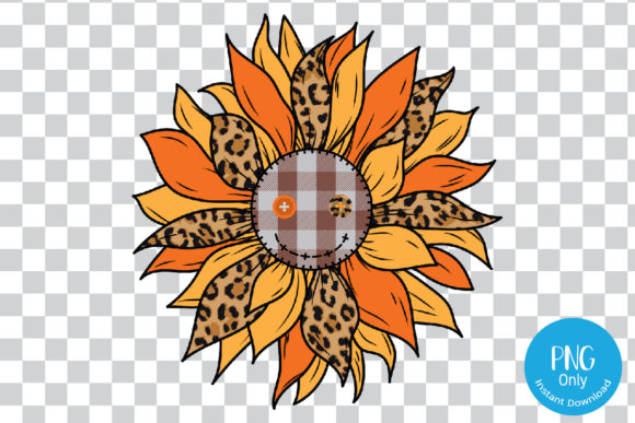 Print on Demand: Smiling Sunflower for Sublimation. Graphic Print Templates By Tori Designs