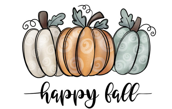 Sublimation - Fall Pumpkin Graphic Illustrations By artdee2554
