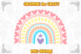 Print on Demand: Sublimation Pastel Rainbow Love Kid PNG Graphic Crafts By numnim