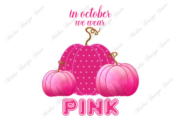 In October We Wear Pink  Graphic Print Templates By MidasStudio