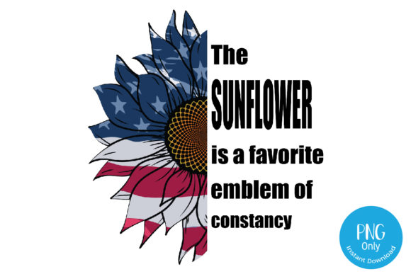 Print on Demand: Sunflower America Flag Sublimation. Graphic Print Templates By Tori Designs