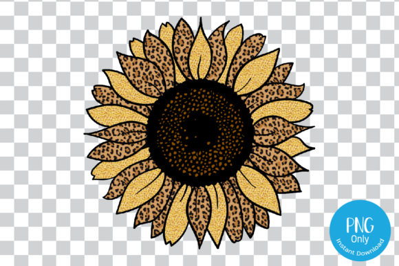 Print on Demand: Sunflower Leopard Png for Sublimation Graphic Print Templates By Tori Designs