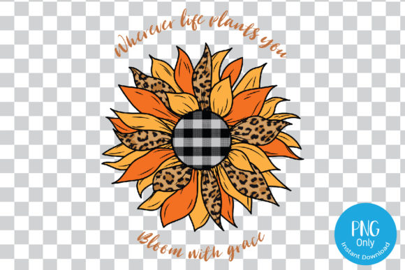 Print on Demand: Sunflower Leopard for Sublimation. Graphic Print Templates By Tori Designs