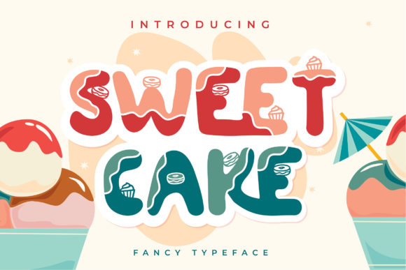 Print on Demand: Sweet Cake Decorative Font By Vunira