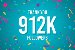 Thank You 912k Followers Graphic Backgrounds By Creative Mind
