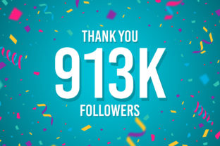 Thank You 913k Followers Graphic Backgrounds By Creative Mind