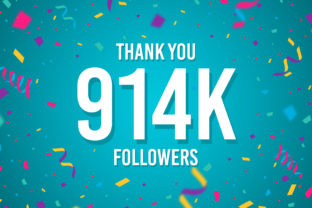 Thank You 914k Followers Graphic Backgrounds By Creative Mind