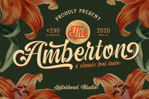 Print on Demand: The Amberton Script & Handwritten Font By letterhend