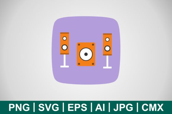 Print on Demand: Vector Music System Icon Graphic Icons By IYIKON