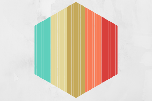 Print on Demand: Vintage Retro Striped Hexagon Background Graphic Backgrounds By atlasart