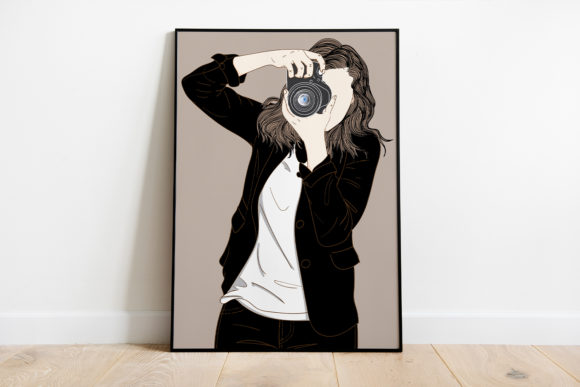 Print on Demand: Wall Art Beautiful Woman Photographer Graphic Illustrations By Saydung89