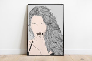 Print on Demand: Wall Art Women Have Beautiful Hairstyles Graphic Illustrations By Saydung89