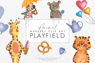 Watercolor Animal Nursery Clipart Graphic Illustrations By NassyArt